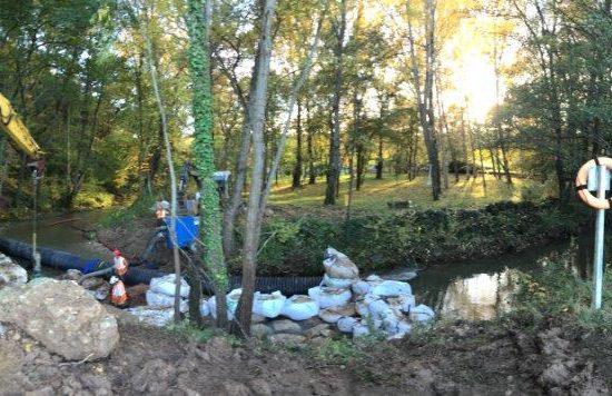 sécurisation de la traversée sous fluviale d'un pipeline de Gaz - Rivière de la Bresque