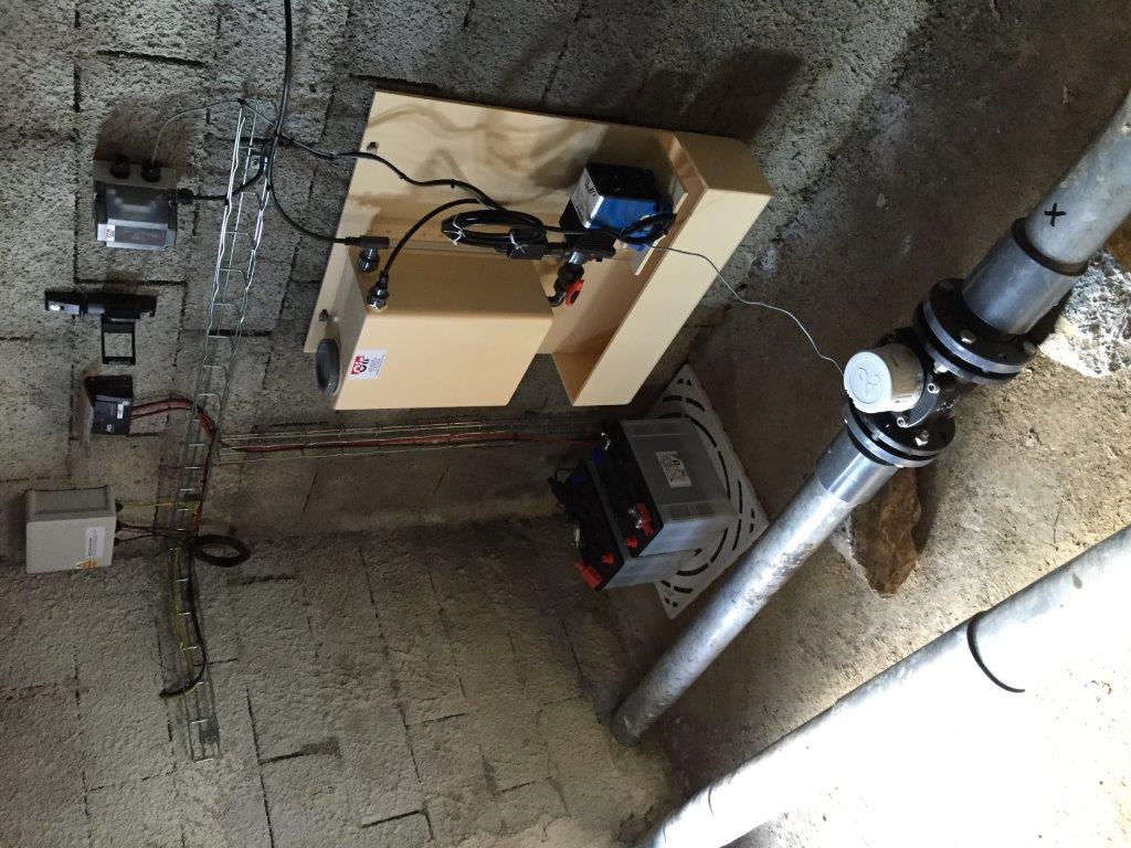 Installation d'une unité de micro chloration autonome
