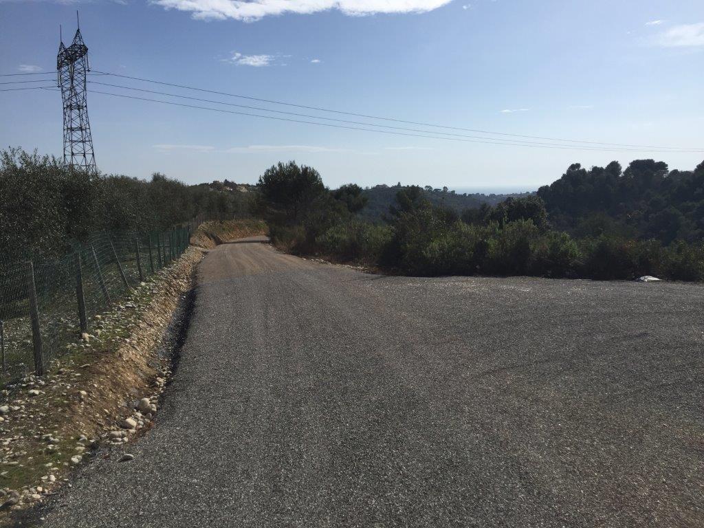 Création d'une piste DFCI - Commune de la Gaude